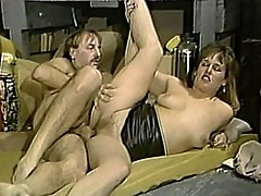Chubby bitch gets fat pussy pounded