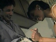 Sexy Black babes gets naughty with two men