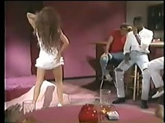 Sexy brunette stripper wants black guy - Vintage Interracial