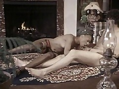 Vintage footage of ebony chick and white dude
