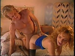 Curly blonde fucked