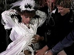 Just married bride fucked by numerous men