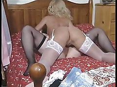 British slut Louise Hodges in a lesb...