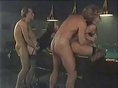Vintage Porn Action With These Two Couples Having Hot Sex On The Pool Table