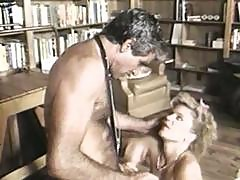 Vintage Clip With Ginger Lynn And Harry Reams In The Library