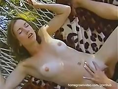 Amateur Lesbian Babes Dani And Angel Licking Pussy In The Hammock
