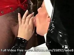 Naughty latex classic nun fetish