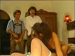 Vintage foursome hot action