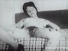 Amateur Vintage 1922 with Hairy housewife