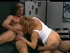 Vintage interracial group sex
