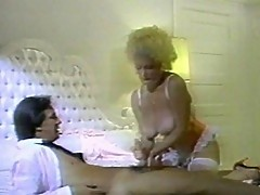 Mature woman's boobs fucked