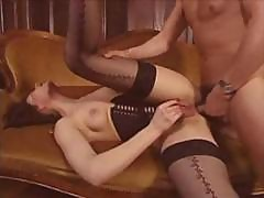 Vintage Hardcore Action With Three Dudes Breaking Into A House And Fucking The Brunette