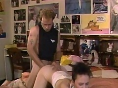 Hard fucked ass bitch reaches orgasm