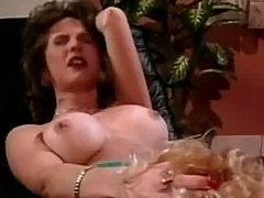 Super hard strap-on fuck in retro xxx