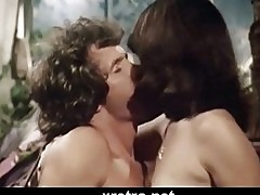 Retro blowjob with hairy pussy and hot babe