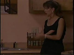 Vintage lesbian sex in the kitchen