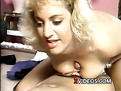Retro blonde with saggy tits