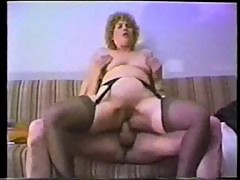 Classic porn with toy and cock in her ass