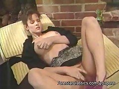 Hardcore Vintage Action With A Brunette Masturbating Her Snatch Outdoors