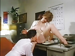 Vintage lesbians in the office