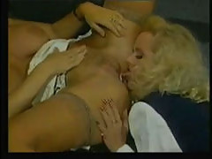 Bisexual babe eats cum out of her fr...