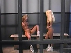 Trixie and Missy satisfy each other in jail
