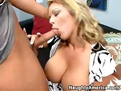 Busty Blonde Amber Lynn Bach Eats His Rod And Then Rides It