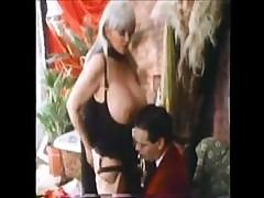 Candy Samples Is One Of Vintage Porn's Big-breast Queens And She Gets It On With This Young Guy