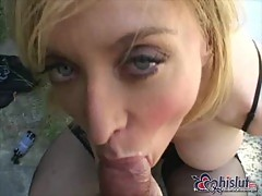 Nina Hartley drilled by POV dong